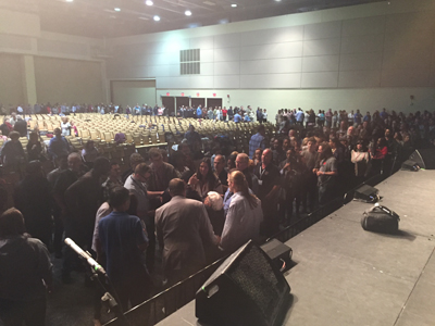 Laying hands on more than 1,000 people at Voice of the Prophets, Pennsylvania
